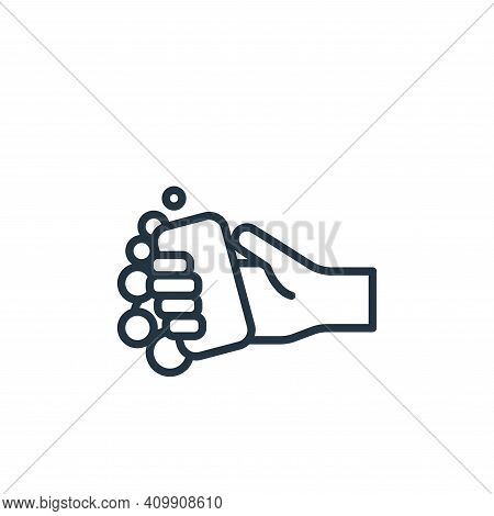 washing hands icon isolated on white background from virus transmission collection. washing hands ic