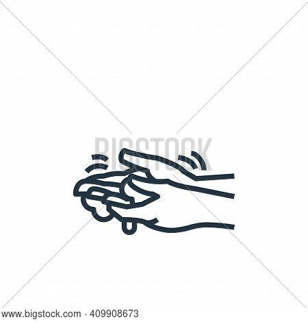 washing hand icon isolated on white background from washing hand collection. washing hand icon thin
