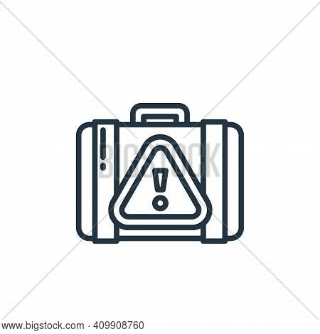 warning icon isolated on white background from virus collection. warning icon thin line outline line