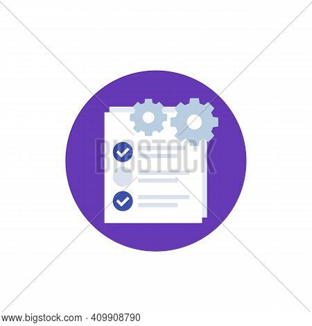 Check List Icon Project Execution Vector Art