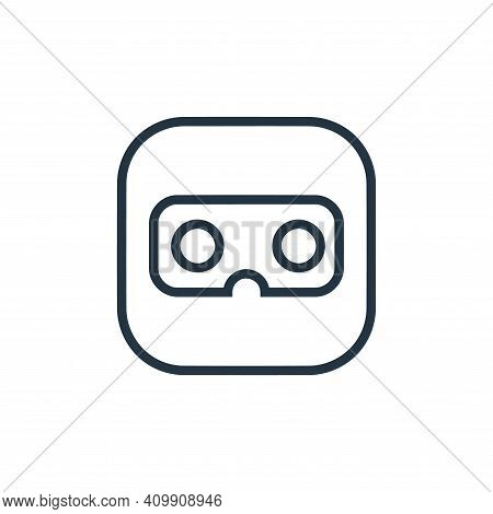 vr glasses icon isolated on white background from hardware and gadgets collection. vr glasses icon t