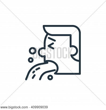 vomit icon isolated on white background from pandemic collection. vomit icon thin line outline linea