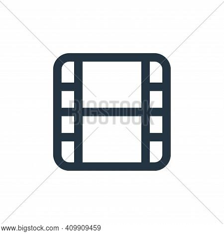 video icon isolated on white background from multimedia collection. video icon thin line outline lin