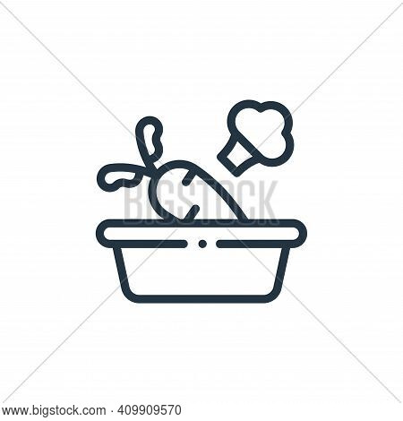 vegetables icon isolated on white background from in the village collection. vegetables icon thin li