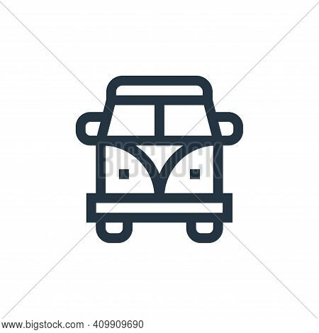 van icon isolated on white background from hippies collection. van icon thin line outline linear van