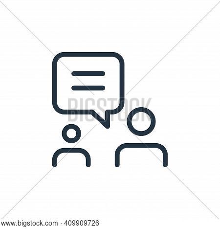 users icon isolated on white background from work office and meeting collection. users icon thin lin