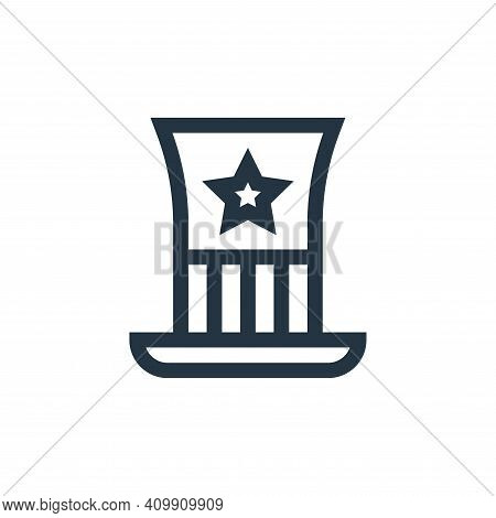 usa icon isolated on white background from united states of america collection. usa icon thin line o