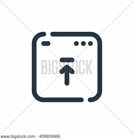 upload icon isolated on white background from seo collection. upload icon thin line outline linear u