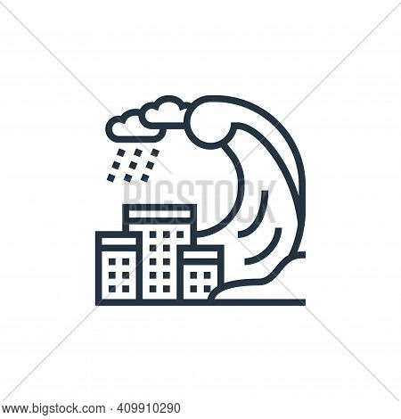 tsunami icon isolated on white background from climate change collection. tsunami icon thin line out