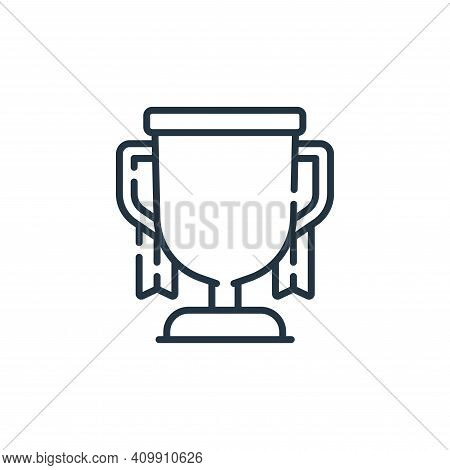 trophy icon isolated on white background from auto racing collection. trophy icon thin line outline