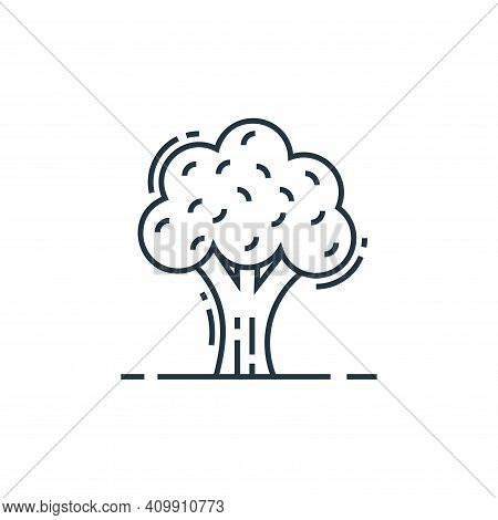 tree icon isolated on white background from environment and eco collection. tree icon thin line outl