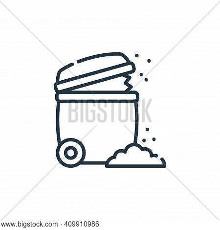 trash icon isolated on white background from climate change collection. trash icon thin line outline