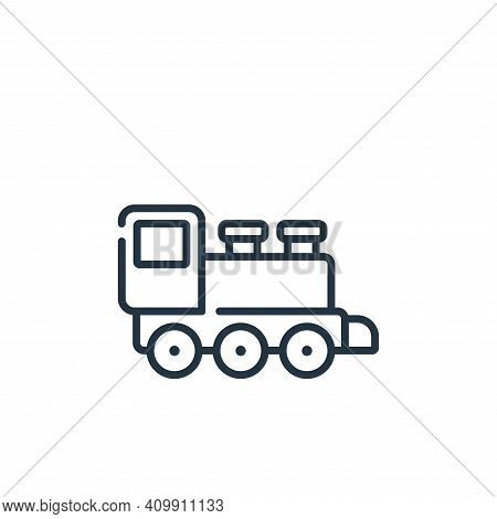 train toy icon isolated on white background from children toys collection. train toy icon thin line