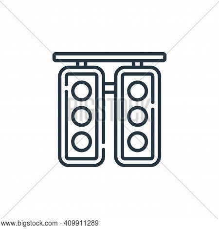 traffic light icon isolated on white background from auto racing collection. traffic light icon thin