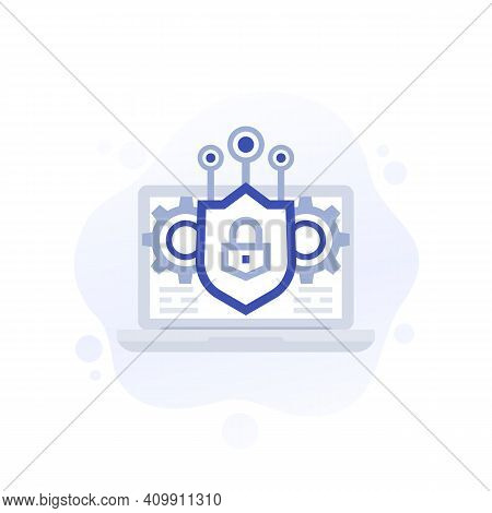 Encryption Or Data Protection, Privacy Vector Icon