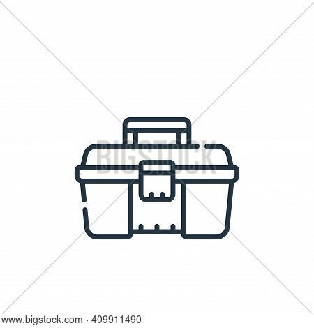 toolbox icon isolated on white background from plastic products collection. toolbox icon thin line o