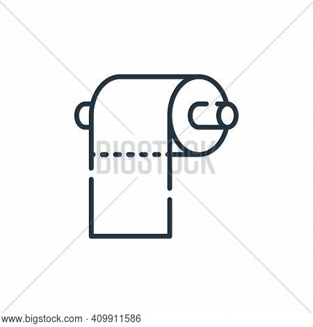 toilet paper icon isolated on white background from cleaning collection. toilet paper icon thin line