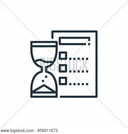 time management icon isolated on white background from work from home collection. time management ic