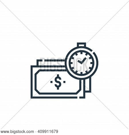 time is money icon isolated on white background from marketing collection. time is money icon thin l