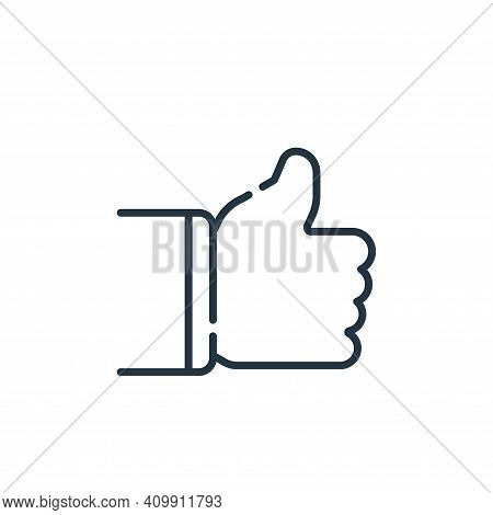 thumbs up icon isolated on white background from social media collection. thumbs up icon thin line o