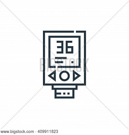 thermometer icon isolated on white background from medical services collection. thermometer icon thi