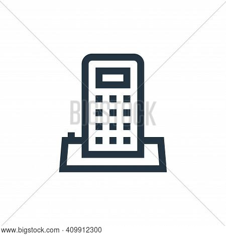 telephone icon isolated on white background from mental health collection. telephone icon thin line