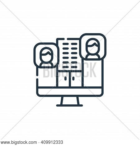 telecommuting icon isolated on white background from telecommuting collection. telecommuting icon th