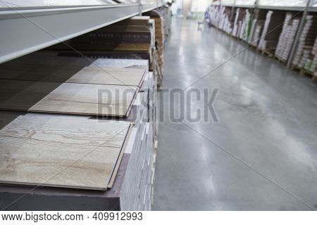 A Large Building Materials Store. Background Image.