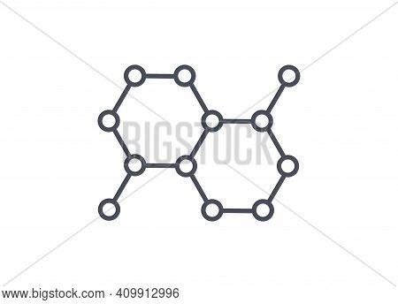 Organic Molecule Structure Web Icon For Science Laboratory Or Chemistry Themes Showing The Spatial O