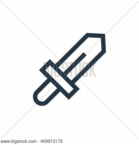 sword icon isolated on white background from video game elements collection. sword icon thin line ou