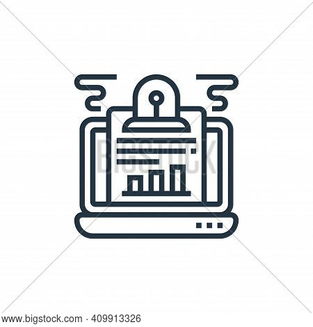 surveillance icon isolated on white background from confidential information collection. surveillanc