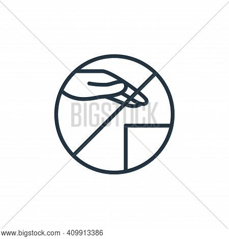 surface icon isolated on white background from stop virus collection. surface icon thin line outline