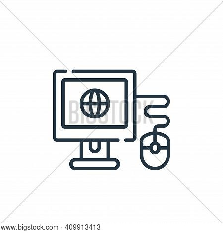 surf icon isolated on white background from free time collection. surf icon thin line outline linear