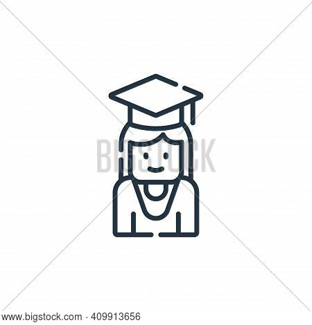student icon isolated on white background from academy collection. student icon thin line outline li