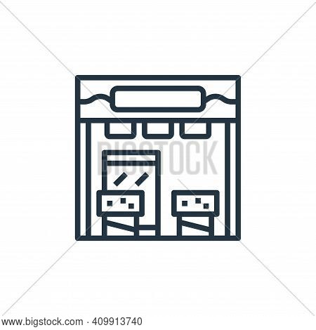 store icon isolated on white background from seafood collection. store icon thin line outline linear