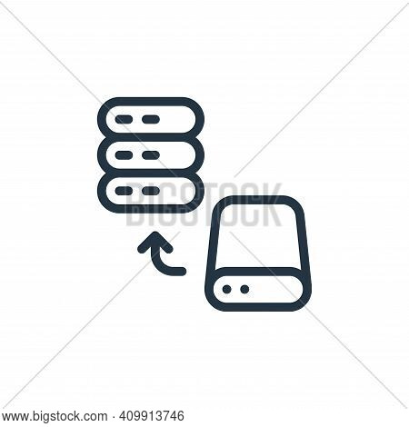 storage device icon isolated on white background from work office server collection. storage device