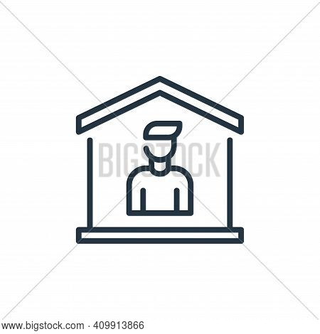 stay at home icon isolated on white background from coronavirus collection. stay at home icon thin l