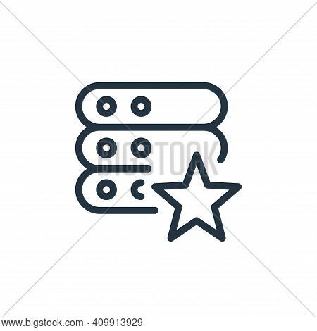 starred icon isolated on white background from work office server collection. starred icon thin line