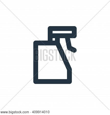 sprayer icon isolated on white background from bathroom collection. sprayer icon thin line outline l