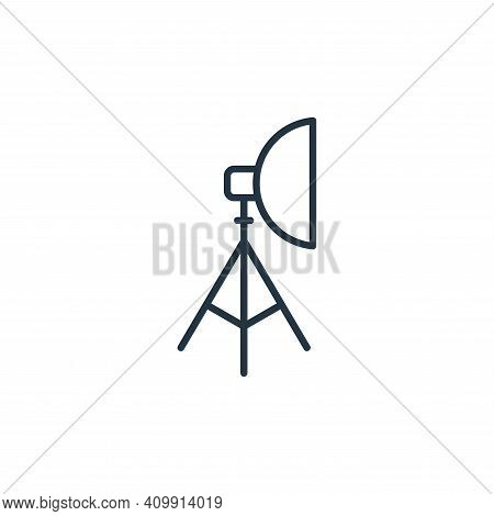 spotlight icon isolated on white background from cinema collection. spotlight icon thin line outline