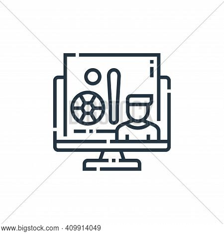 sports icon isolated on white background from videoblogger collection. sports icon thin line outline