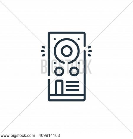 speaker icon isolated on white background from celebration collection. speaker icon thin line outlin