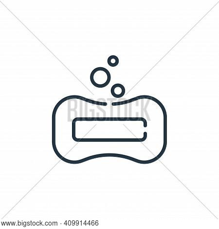 soap icon isolated on white background from bathroom collection. soap icon thin line outline linear