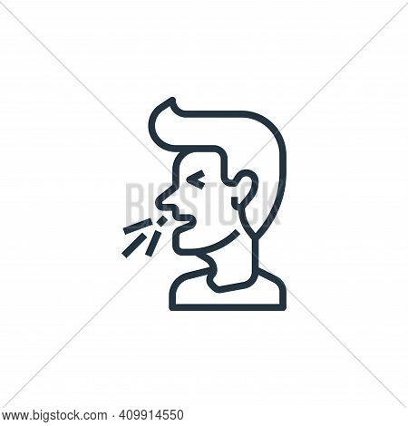 sneeze icon isolated on white background from coronavirus collection. sneeze icon thin line outline