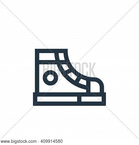 sneakers icon isolated on white background from hippies collection. sneakers icon thin line outline