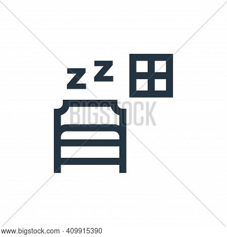 sleep icon isolated on white background from hobbies collection. sleep icon thin line outline linear