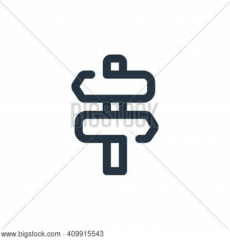 sign icon isolated on white background from travel collection. sign icon thin line outline linear si