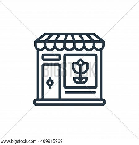 shop icon isolated on white background from womens day collection. shop icon thin line outline linea