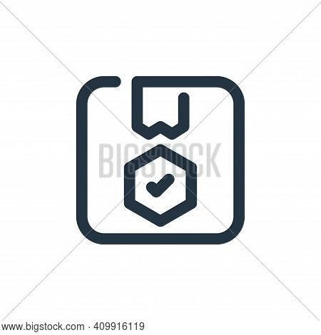 shield icon isolated on white background from shopping collection. shield icon thin line outline lin