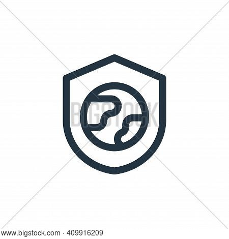 shield icon isolated on white background from mother earth day collection. shield icon thin line out